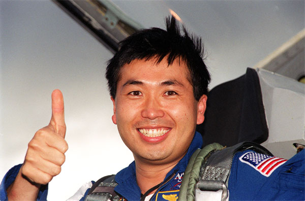 Wakata, seen here, in 2000 when he became Japan's first mission specialist aboard the ISS. Photo courtesy: NASA