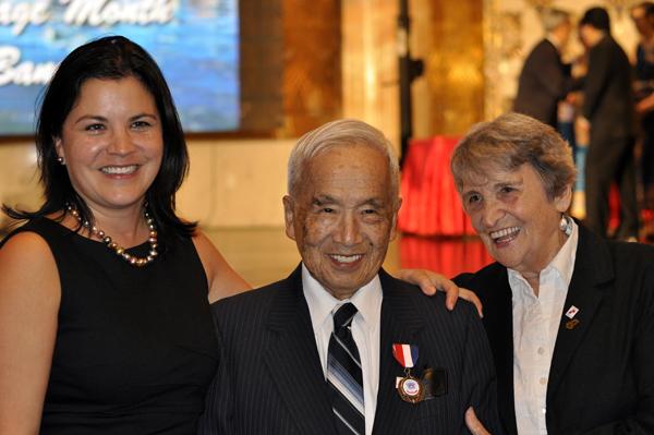 Frank Moritsugu and family members at the gala night.
