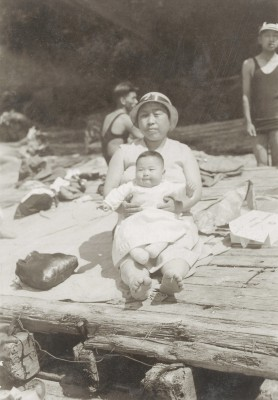Kintaro-san at Jericho Beach, Vancouver in 1933.