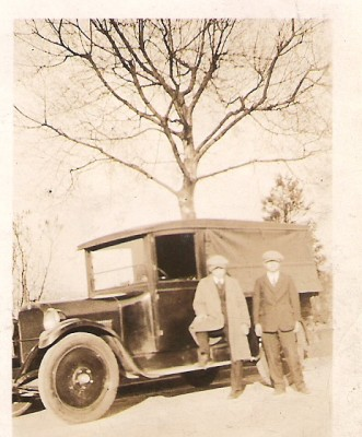 Salesmans store truck in the late 1920s.