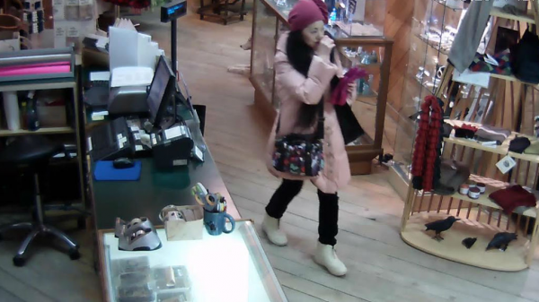 During her time in Yellowknife, Yoshikubo had visited a gift shop purchasing various items. Photo courtesy: RCMP
