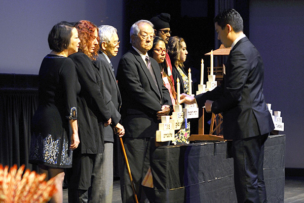 Commemorating the victims of the Japanese American internment  at the Day of Remembrance ceremony in San Francisco.