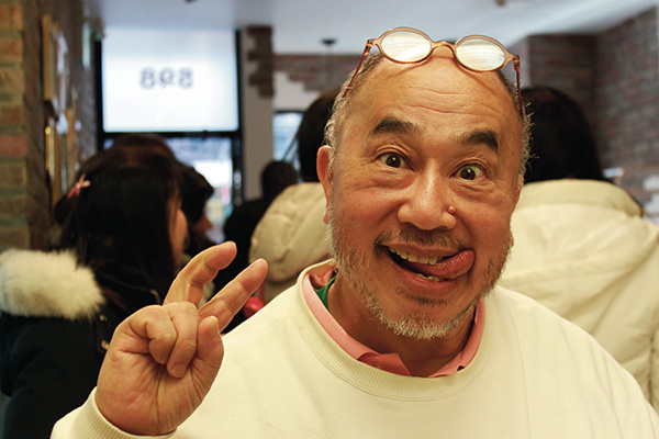 Uncle Tetsu, seen here, was in Toronto for the shop's grand opening. Photo by: Jun Kobayashi