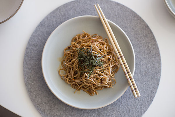 A delicious somen dish created by Hana Etsuko Dethlefsen. Photo by: Kayla Isomura