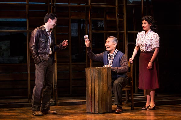 And reviews so far have been very positive about the show that stars Telly Leung, George Takei, and Lea Solonga. Photo courtesy: Allegiance