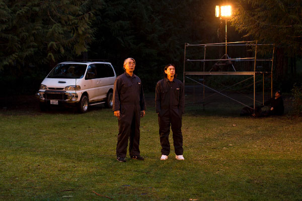 Denis Akiyama, left, and Jai West, right, play leading roles in The Japanese Garden, but the differences between these two Japanese characters becomes apparent from the moment they start to interact.
