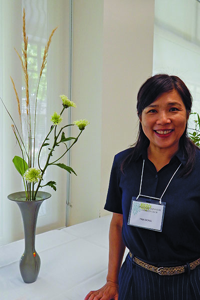 Tina Wong, president of Ikebana International, Toronto chapter