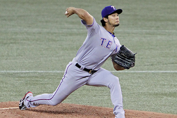 Iranian-Japanese, Yu Darvish tossed a gem against the Jays in a 7-1 loss bringing his ERA down to a minuscule 2.88, July 18, 2014. Photo credit: Jonathan Eto.