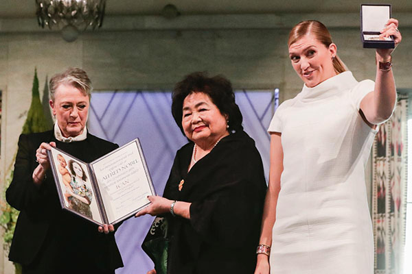 March towards peace: Setsuko Thurlow and ICAN accept Nobel Peace Prize